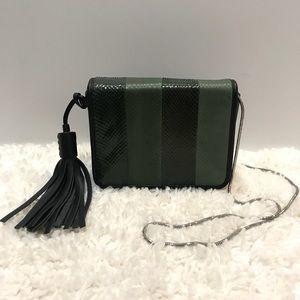 All Saints Bansho Leather Snakeskin Crossbody Bag